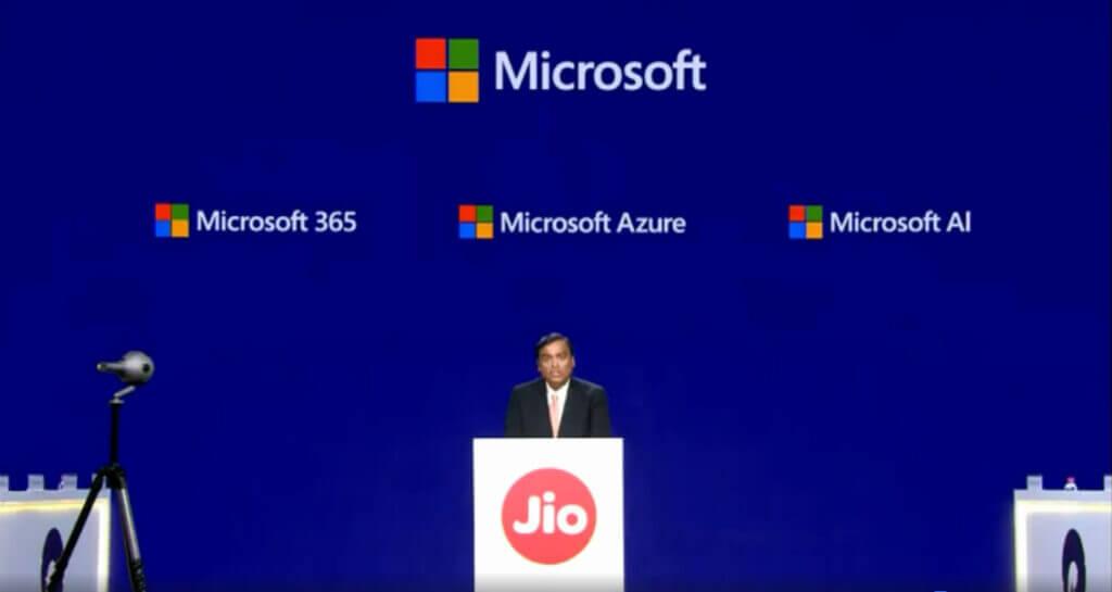 همکاری مایکروسافت و JIO